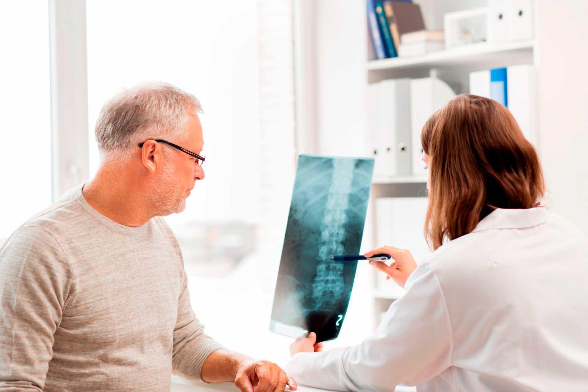 Paciente con problemas de columna